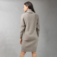 Платье из шерсти яка с узором