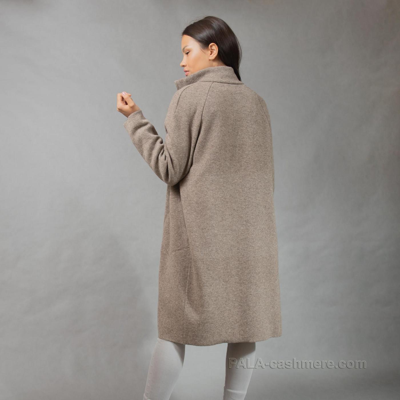 Пальто на молнии из шерсти яка
