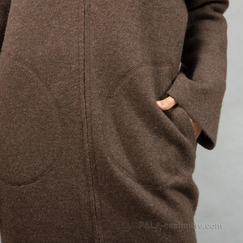 Пальто из шерсти на молнии