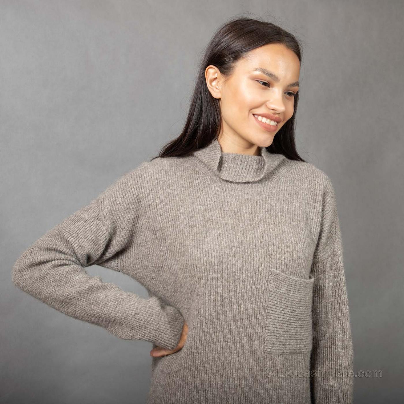 Yak hair dress with pocket