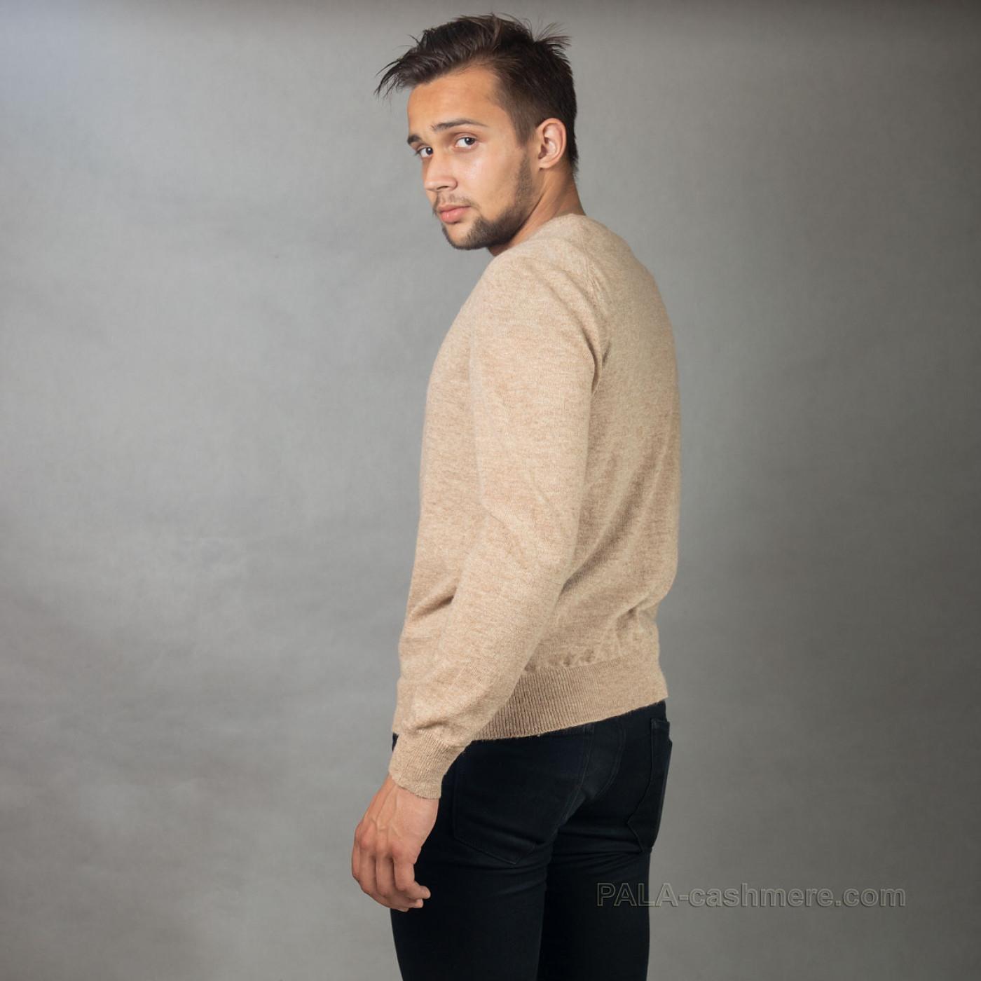 Пуловер из верблюжьей шерсти мужской