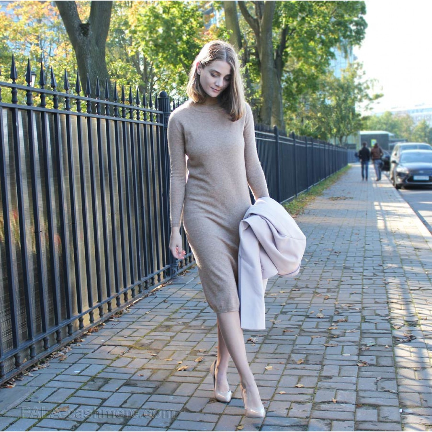 Dress Cashmere Dark Beige
