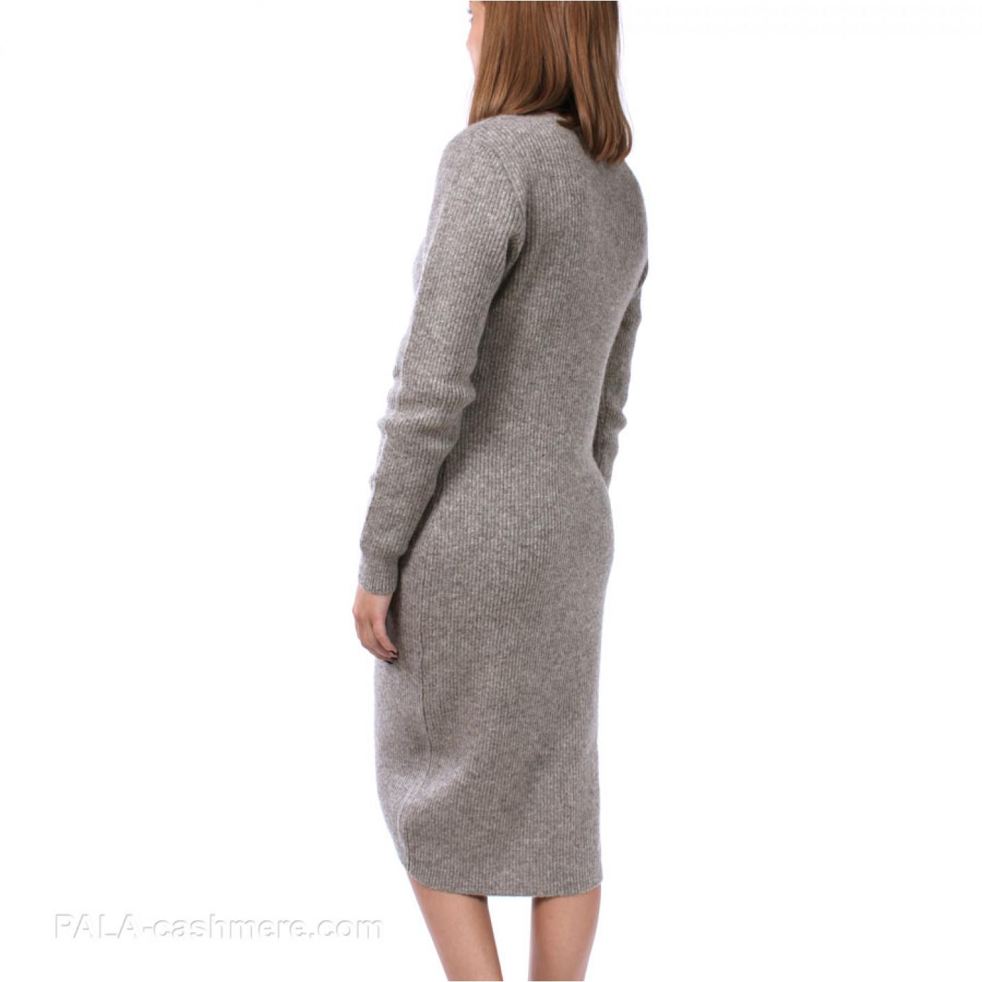 Платье из шерсти яка серое