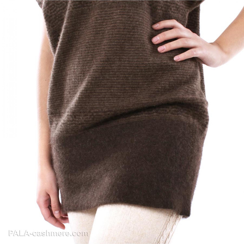 Brown Wool Yak Dress-Tunic
